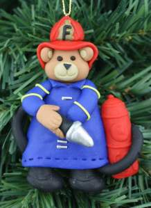 Would you like to win this adorable Firefighter Teddy Bear ornament? Follow Adele Downs' Blog Tour!