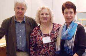 Gregory Frost (l), Adele Downs (c), Cordelia Biddle (r).