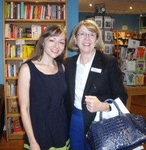 Susan Scott Shelley, author and one of three founders of Lady Jane's Salon Philly with visiting author Ursula LeCoeur