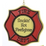 smokinhotfirefighterornament